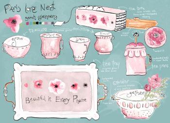 Ceramic Lettering Paris Love Nest
